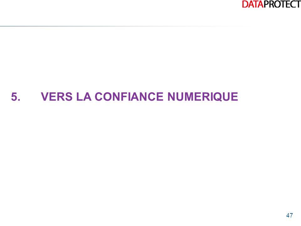 47 5.VERS LA CONFIANCE NUMERIQUE