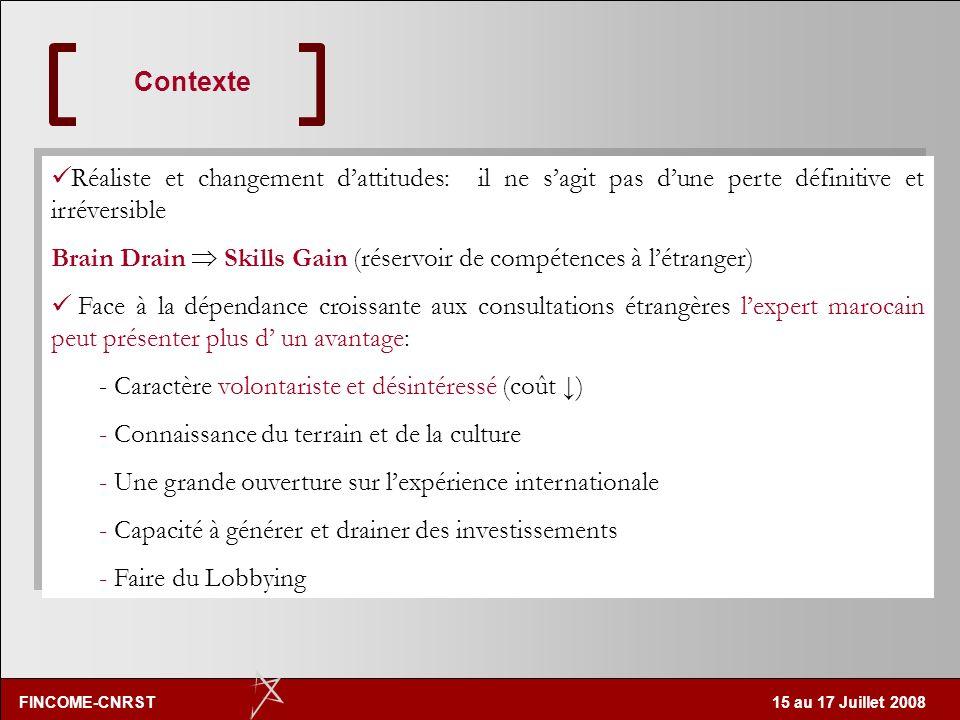 FINCOME-CNRST 15 au 17 Juillet 2008 un peu plus 1 marocain sur 10 réside à létranger: une diaspora qui garde des liens très forts (première source de