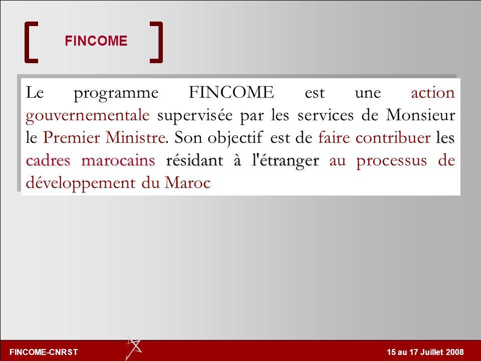 FINCOME-CNRST 15 au 17 Juillet 2008 Réaliste et changement dattitudes: il ne sagit pas dune perte définitive et irréversible Brain Drain Skills Gain (