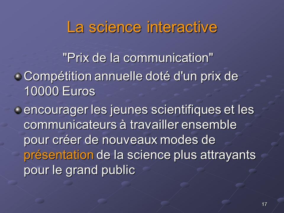 17 La science interactive