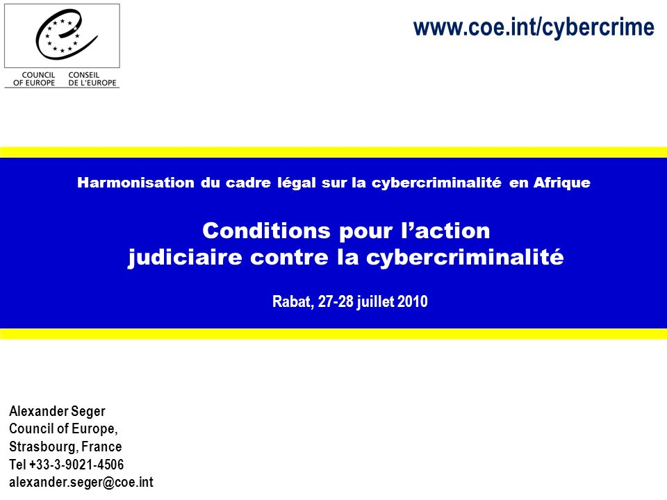 12 www.coe.int/cybercrime Coopération public-privé Measures to be taken by ISPs Report criminal incidents Assist LEA with training and other support Procedures for responding to requests Designated and trained personnel for cooperation Emergency assistance outside business hours Criminal compliance programme Verification of source of requests Standard response format Explanation for information not provided Coordination among ISP Lignes directrices