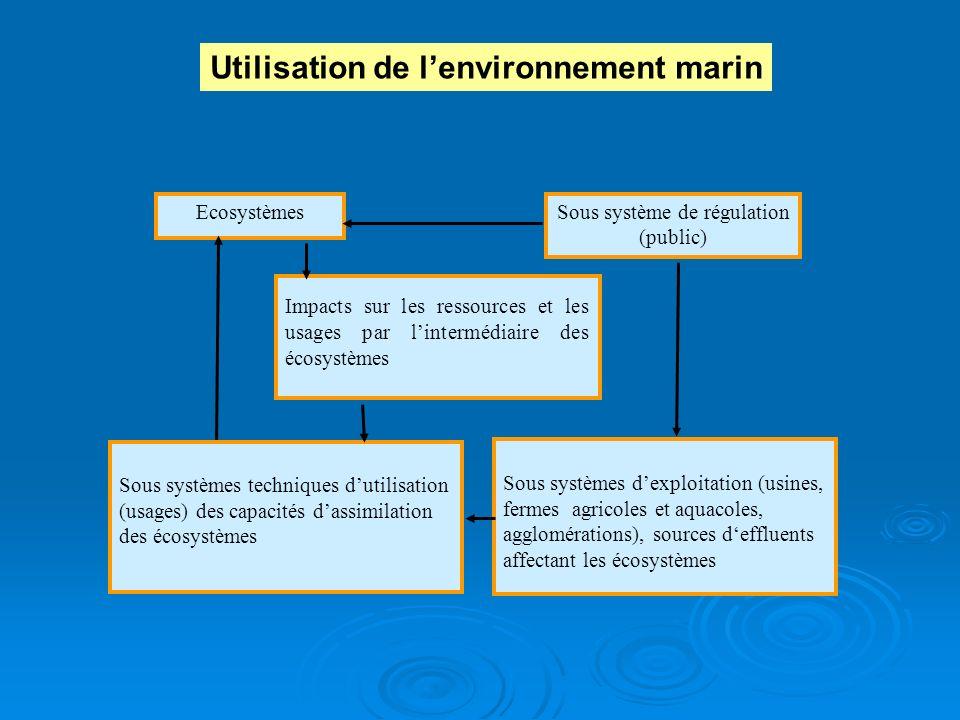 EcosystèmesSous système de régulation (public) Sous systèmes techniques dutilisation (usages) des capacités dassimilation des écosystèmes Sous système