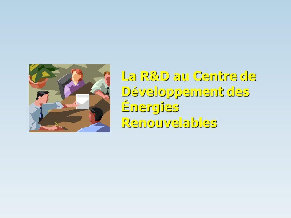 La R&D au Centre de D é veloppement des É nergies Renouvelables