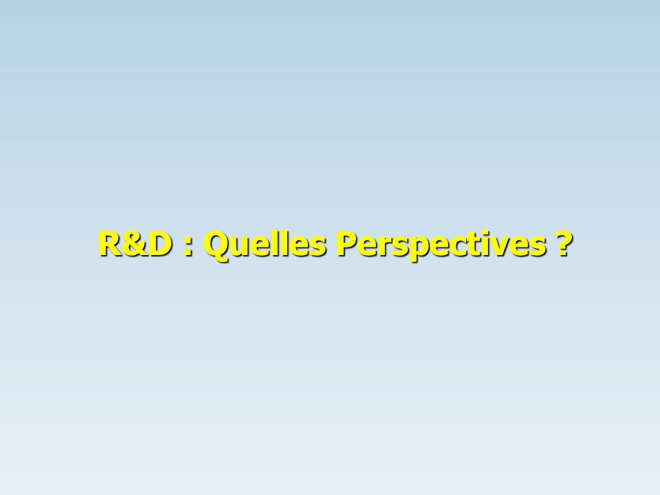 R&D : Quelles Perspectives ?