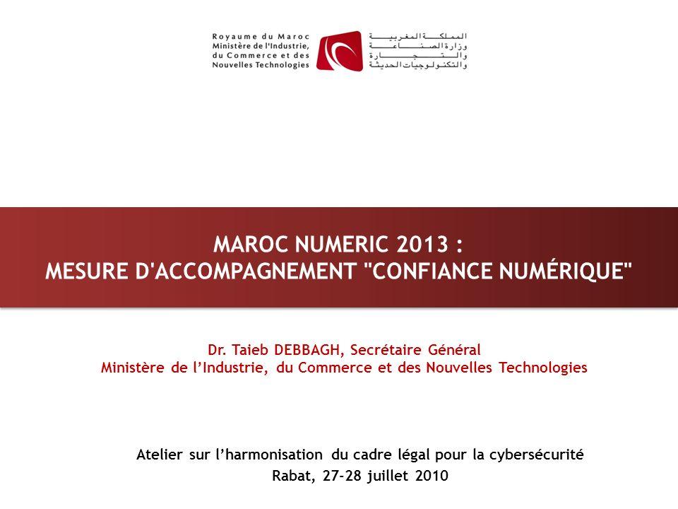 MAROC NUMERIC 2013 : MESURE D'ACCOMPAGNEMENT