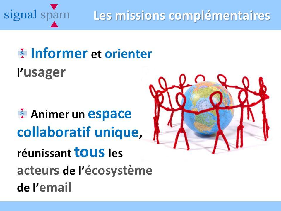 Les missions complémentaires Informer et orienter l usager Animer un espace collaboratif unique, réunissant tous les acteurs de l écosystème de l email