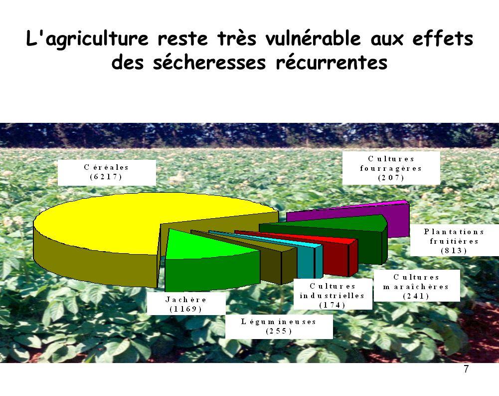 7 L'agriculture reste très vulnérable aux effets des sécheresses récurrentes