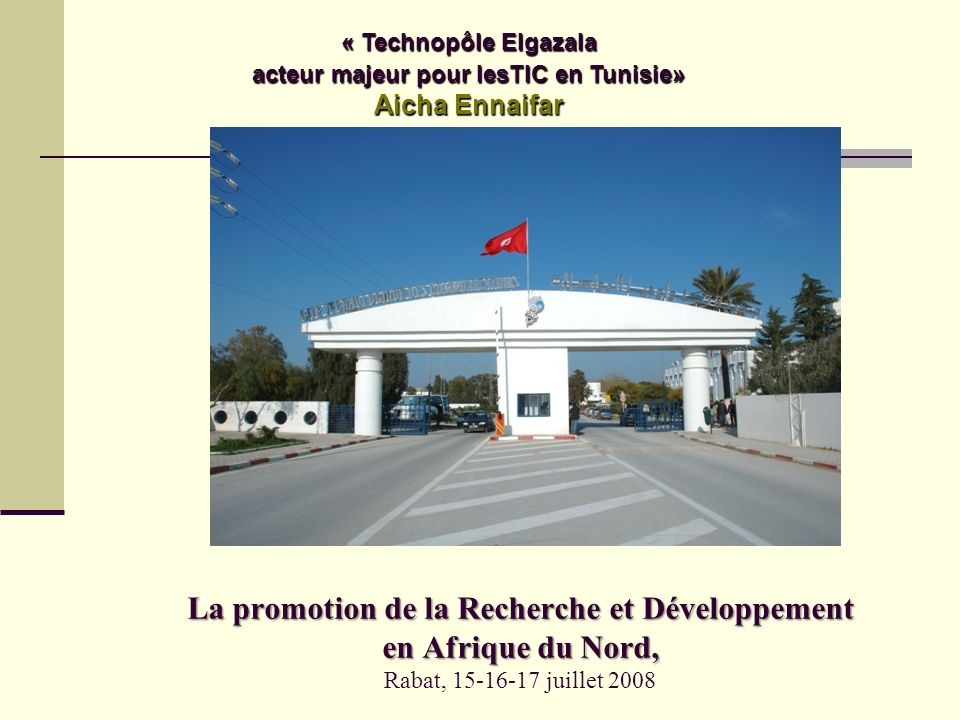 La promotion de la Recherche et Développement en Afrique du Nord, La promotion de la Recherche et Développement en Afrique du Nord, Rabat, 15-16-17 ju