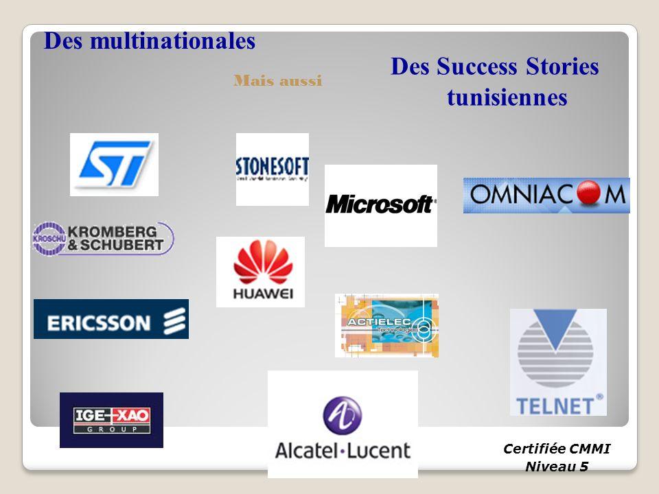 Des Success Stories tunisiennes Certifiée CMMI Niveau 5 Des multinationales Mais aussi
