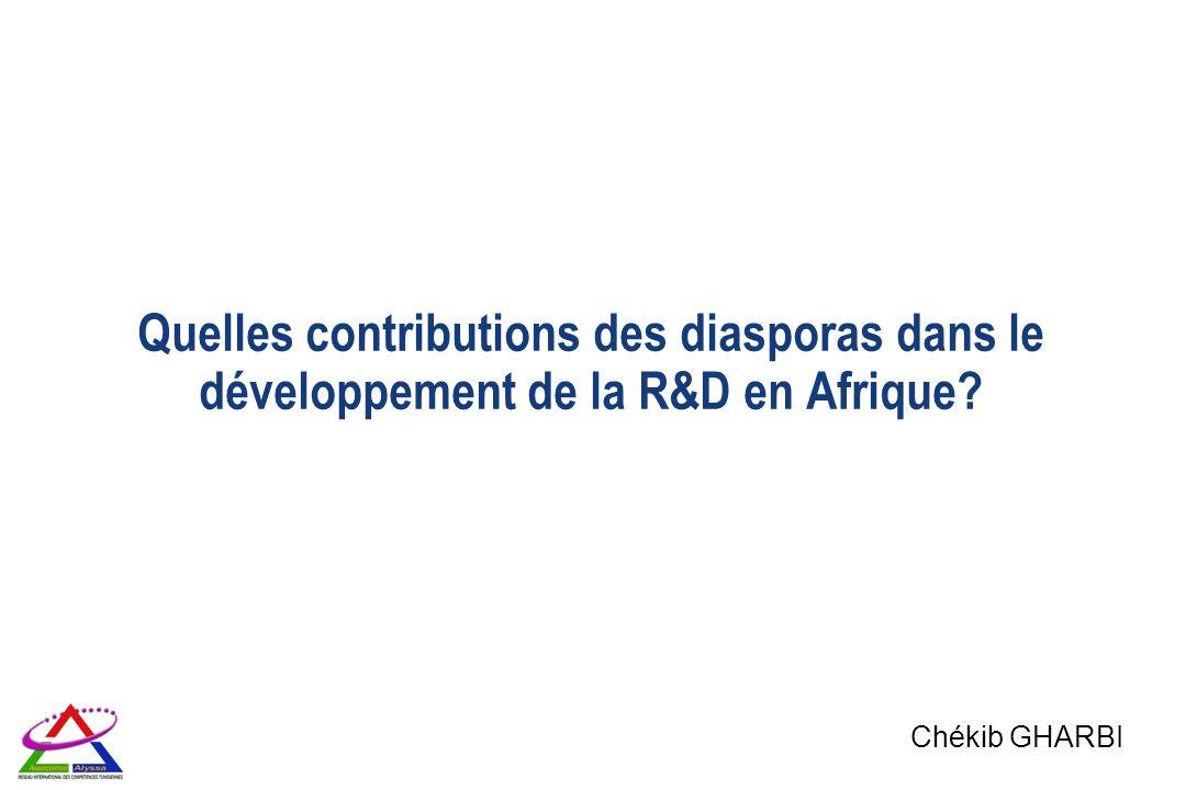 Quelles contributions des diasporas dans le développement de la R&D en Afrique? Chékib GHARBI