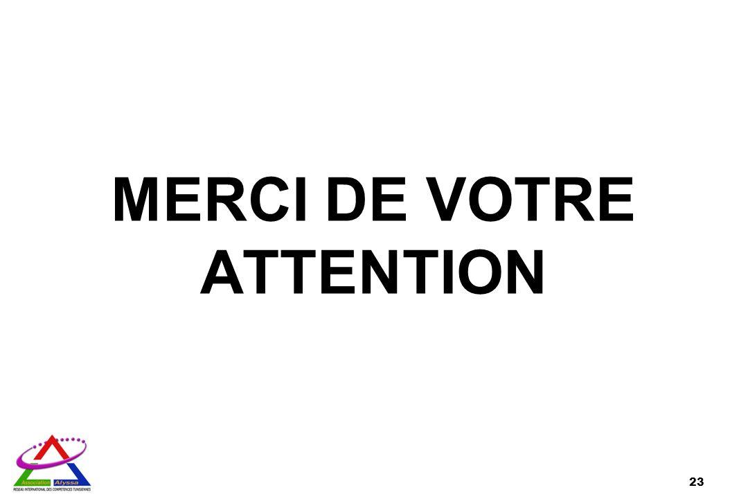 MERCI DE VOTRE ATTENTION 23