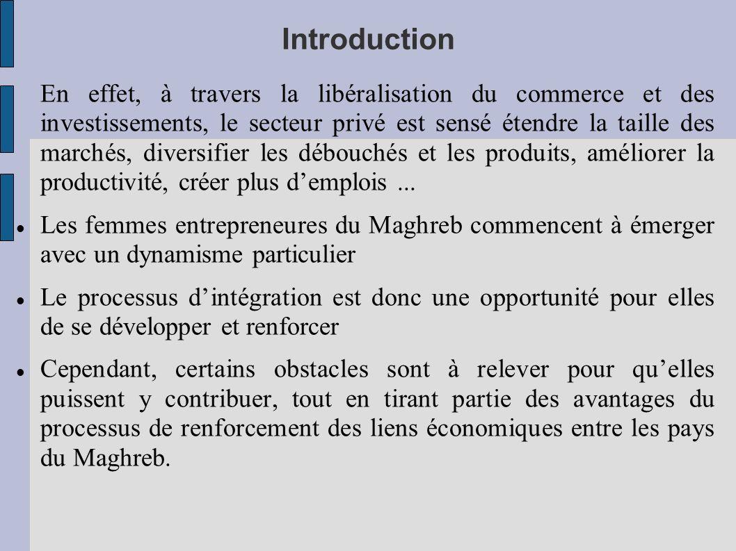 Introduction En effet, à travers la libéralisation du commerce et des investissements, le secteur privé est sensé étendre la taille des marchés, diver