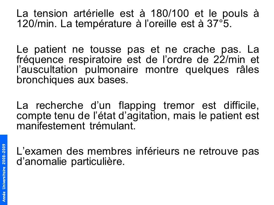 Année Universitaire 2008-2009 Laide ménagère vous montre le résultat de tests que Monsieur D … a pratiqué chez son pneumologue 3 mois auparavant.