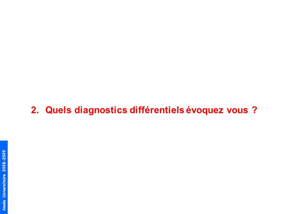 Année Universitaire 2008-2009 2.Quels diagnostics différentiels évoquez vous ?