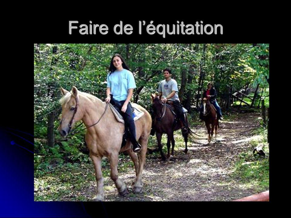 Faire de léquitation