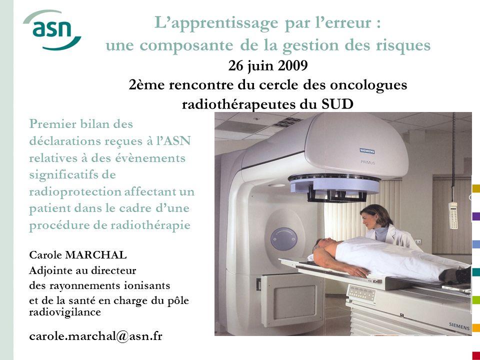1 Lapprentissage par lerreur : une composante de la gestion des risques 26 juin 2009 2ème rencontre du cercle des oncologues radiothérapeutes du SUD P