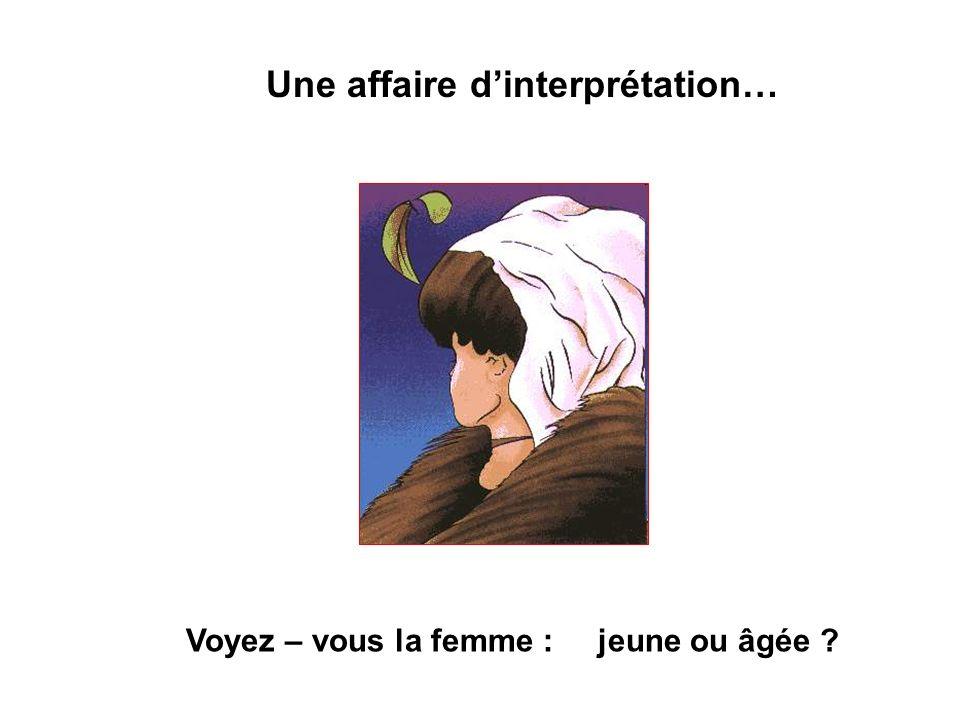 Une affaire dinterprétation… Voyez – vous la femme : jeune ou âgée ?