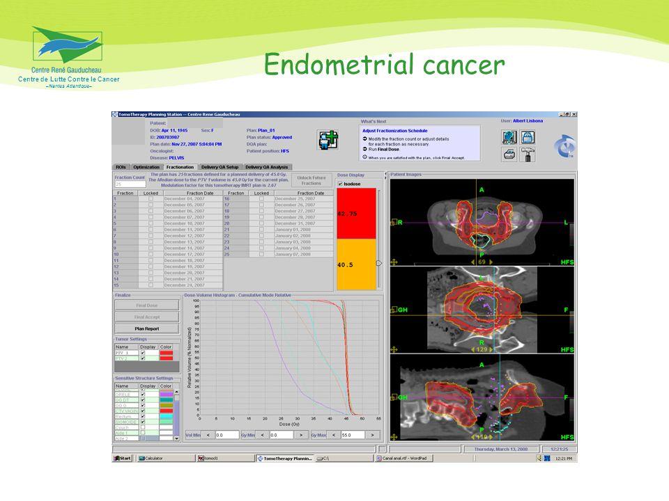 Centre de Lutte Contre le Cancer –Nantes Atlantique– Endometrial cancer