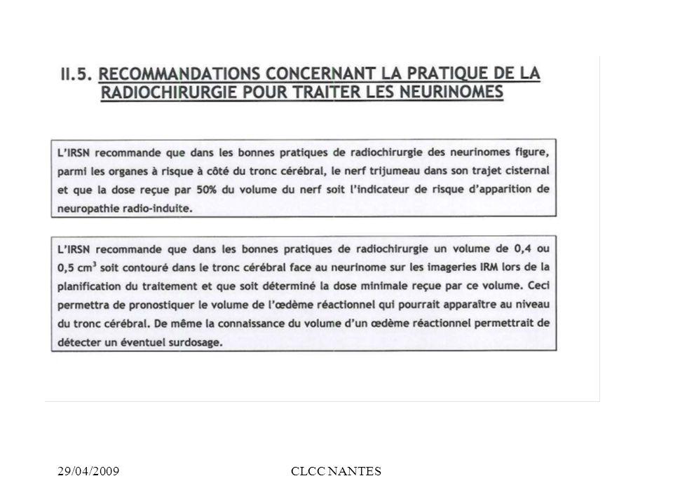 29/04/2009CLCC NANTES 20 GY isodose 80% Récidive de craniopharyn giome