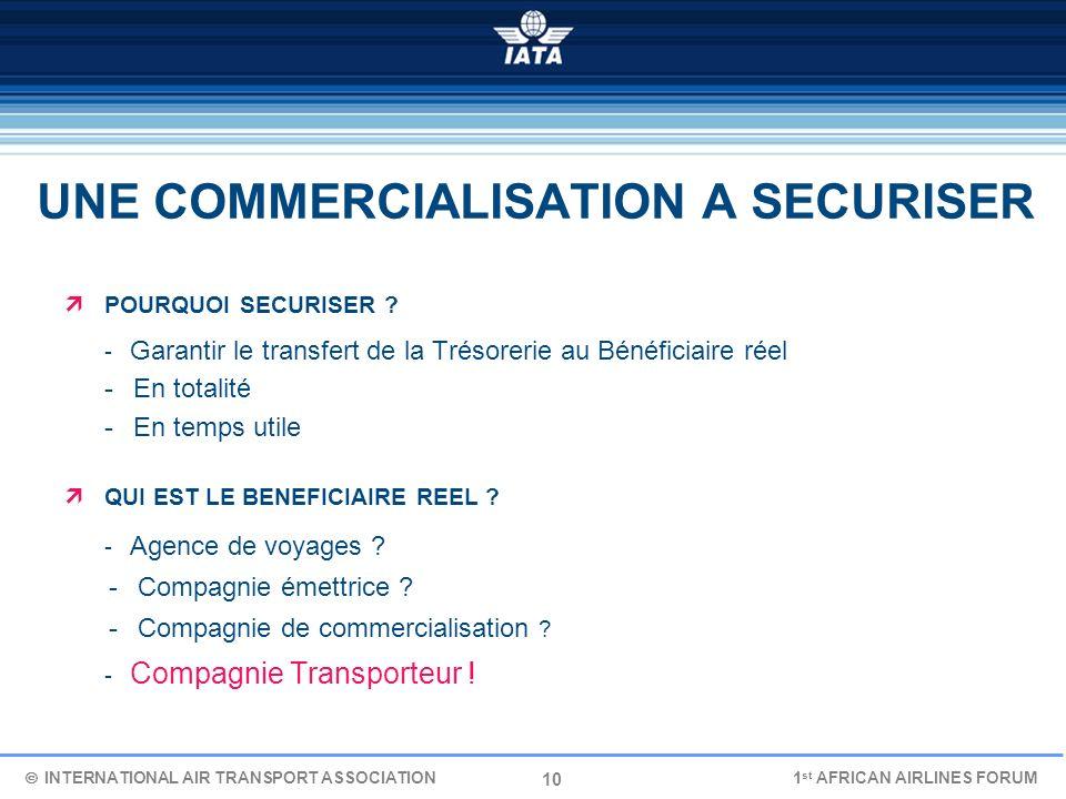 10 UNE COMMERCIALISATION A SECURISER POURQUOI SECURISER ? - Garantir le transfert de la Trésorerie au Bénéficiaire réel - En totalité - En temps utile