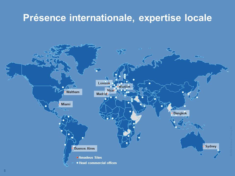 © 2006 Amadeus IT Group SA 8 Présence internationale, expertise locale