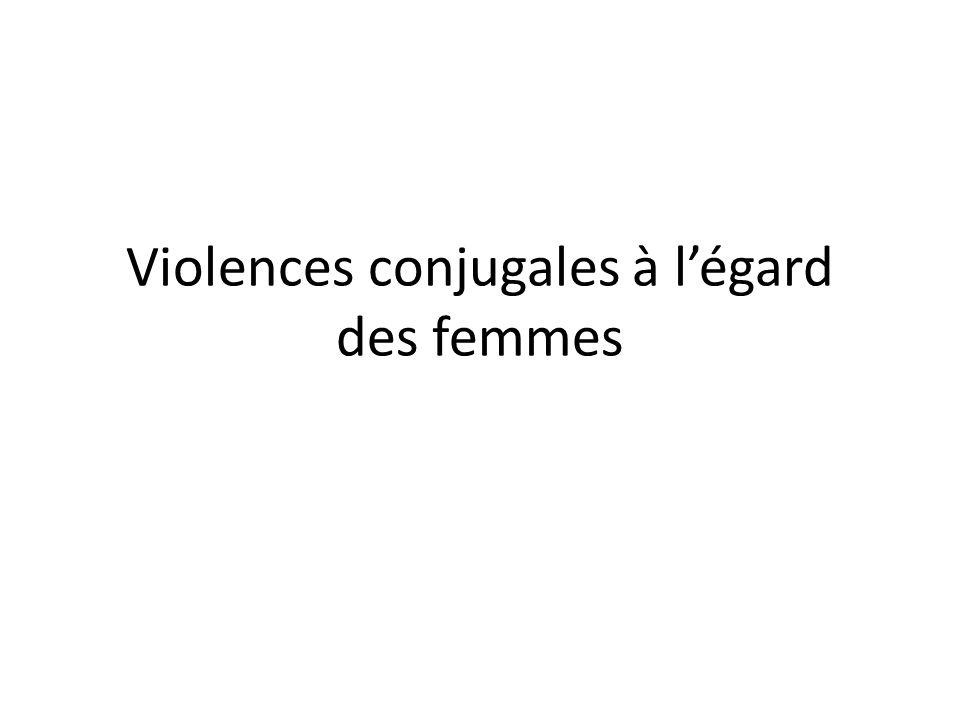Violences conjugales à légard des femmes