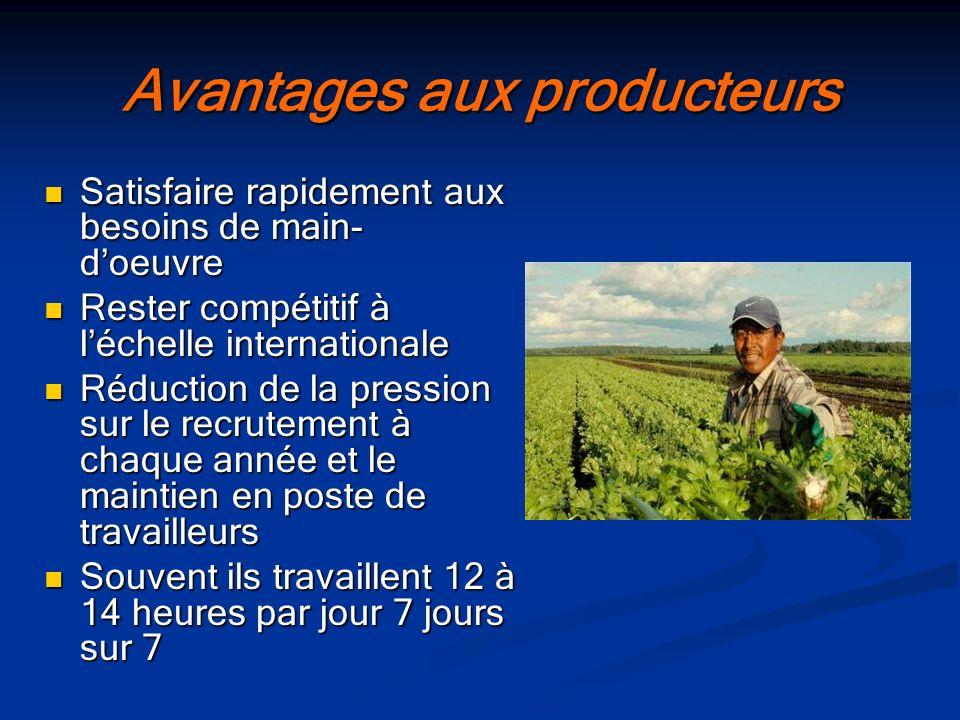En Montérégie Ouest 2500 travailleurs migrants agricoles Un grand nombre autour de Saint-Rémi, dans les MRC des Jardins- de- Napierville, de Roussillon et du Haut-Saint-Laurent.