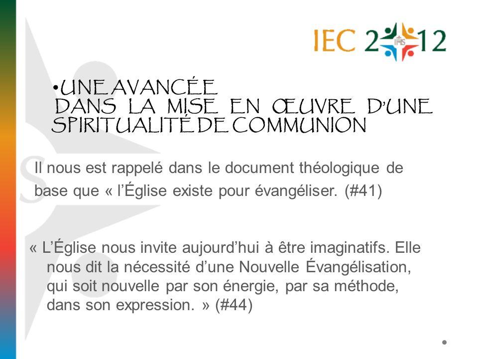 « LÉglise nous invite aujourdhui à être imaginatifs. Elle nous dit la nécessité dune Nouvelle Évangélisation, qui soit nouvelle par son énergie, par s