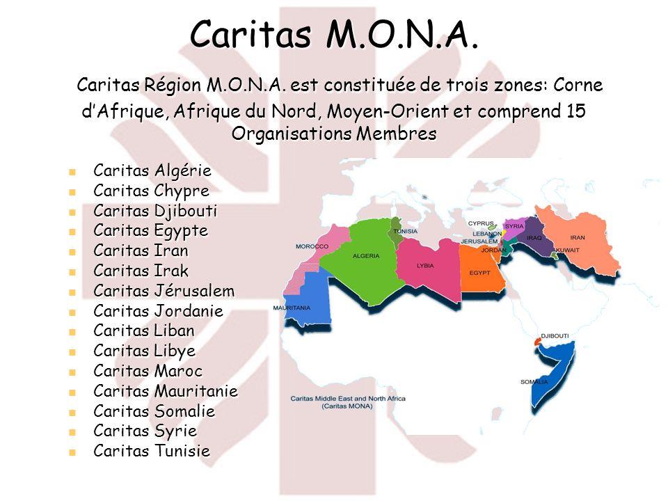 Réponse de Caritas dans la Région M.O.N.A.Le travail des organisations de la région M.O.N.A.