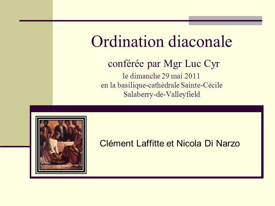 Ordination diaconale conférée par Mgr Luc Cyr le dimanche 29 mai 2011 en la basilique-cathédrale Sainte-Cécile Salaberry-de-Valleyfield Clément Laffit