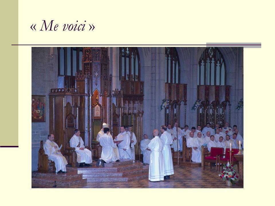 «Avec tous les saints qui intercèdent pour nous, confions à la miséricorde de Dieu ceux quil a choisis comme diacres : demandons-lui de répandre sur Clément et Nicola la grâce de sa bénédiction.»