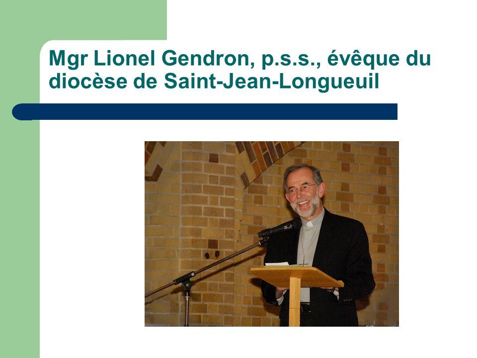 Mgr Lionel Gendron, p.s.s., évêque du diocèse de Saint-Jean-Longueuil
