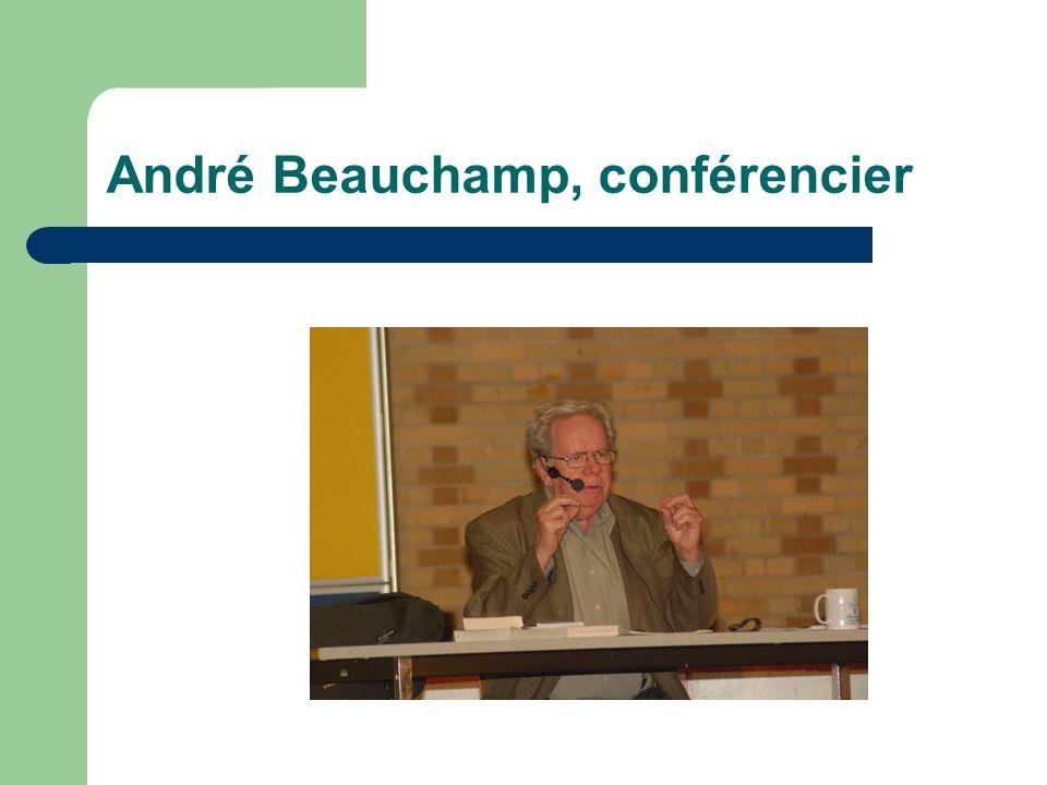 André Beauchamp, conférencier