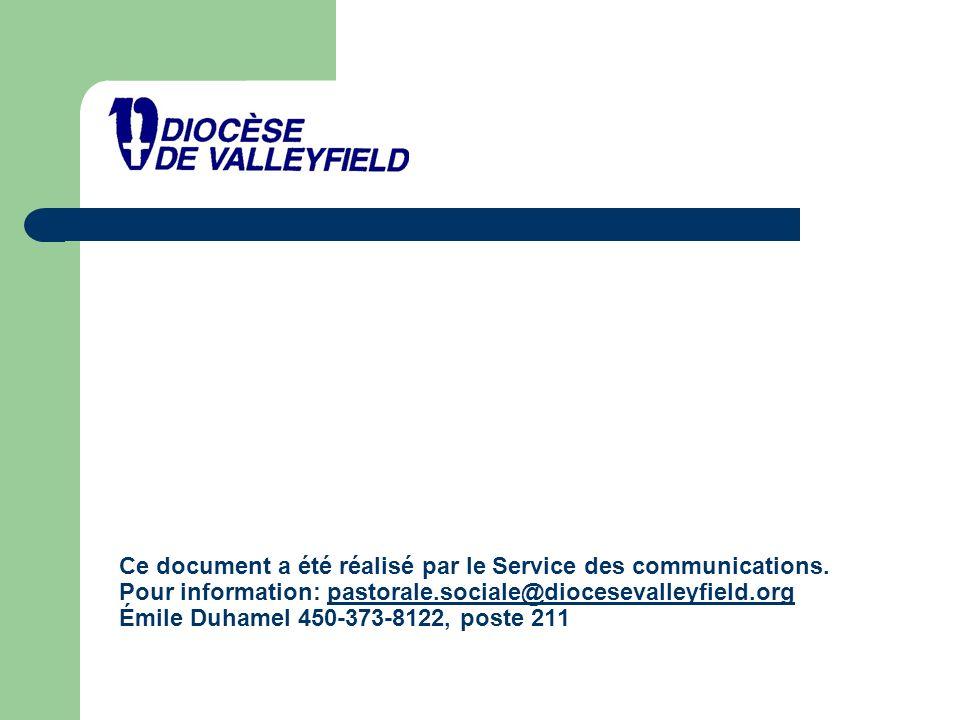 Ce document a été réalisé par le Service des communications.