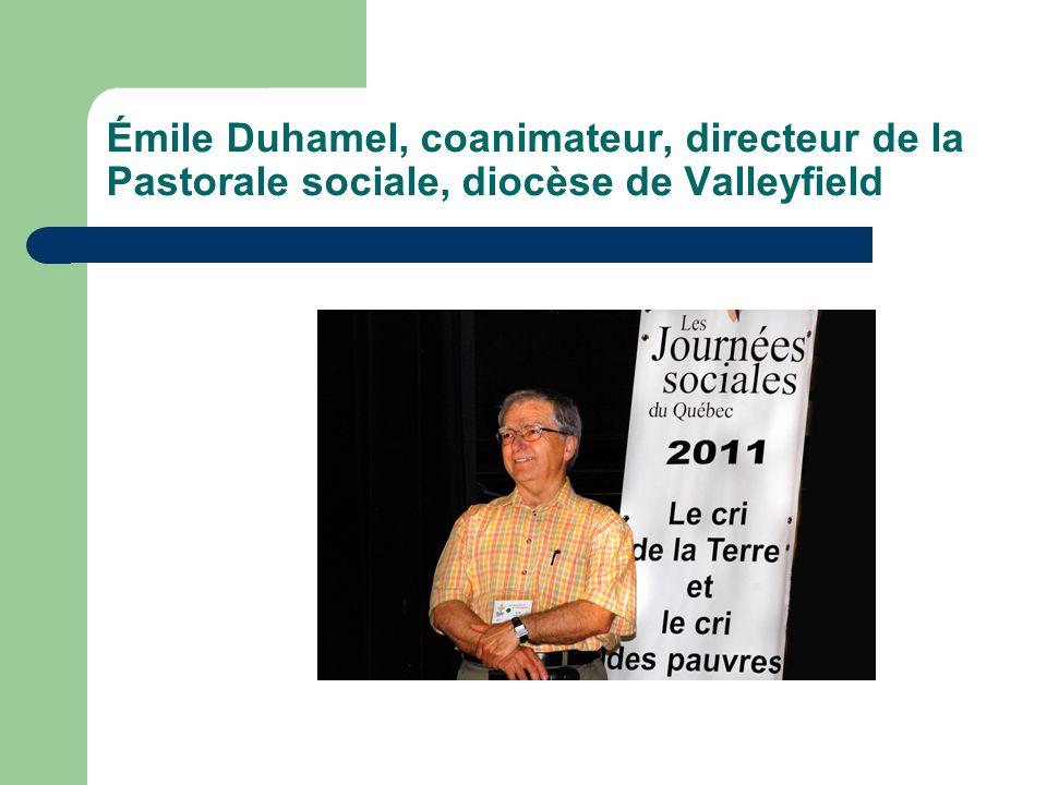 Émile Duhamel, coanimateur, directeur de la Pastorale sociale, diocèse de Valleyfield