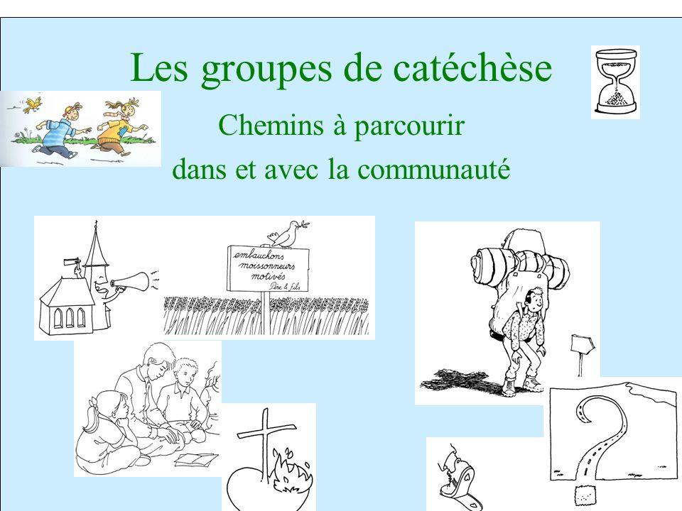 Les groupes de catéchèse Chemins à parcourir dans et avec la communauté