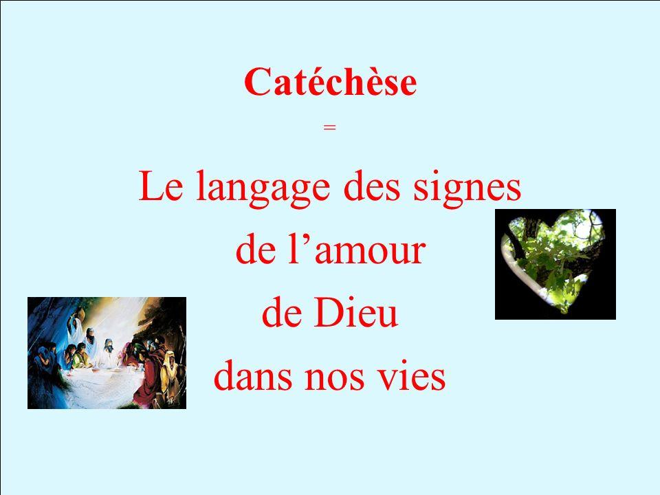 Catéchèse Le langage des signes de lamour de Dieu dans nos vies =