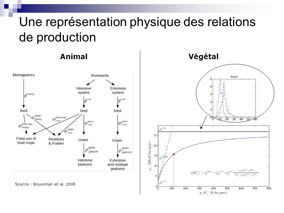Une représentation physique des relations de production AnimalVégétal Source : Bouwman et al. 2006
