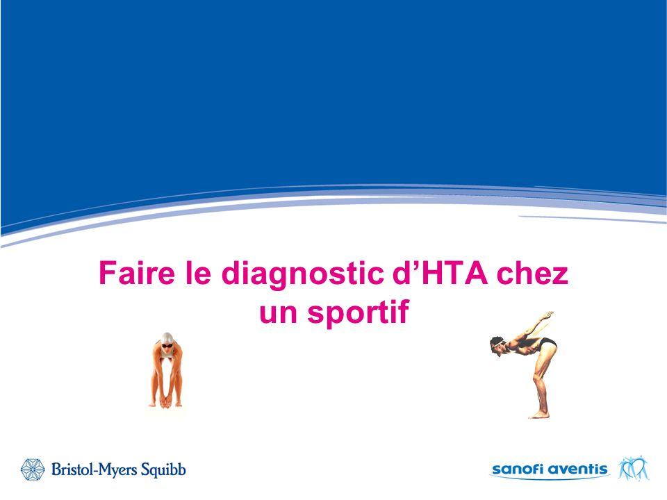 Faire le diagnostic dHTA chez un sportif