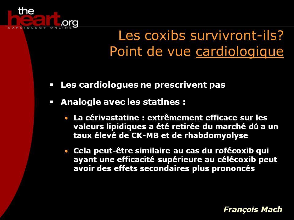 Les cardiologues ne prescrivent pas Analogie avec les statines : La cérivastatine : extrêmement efficace sur les valeurs lipidiques a été retirée du m