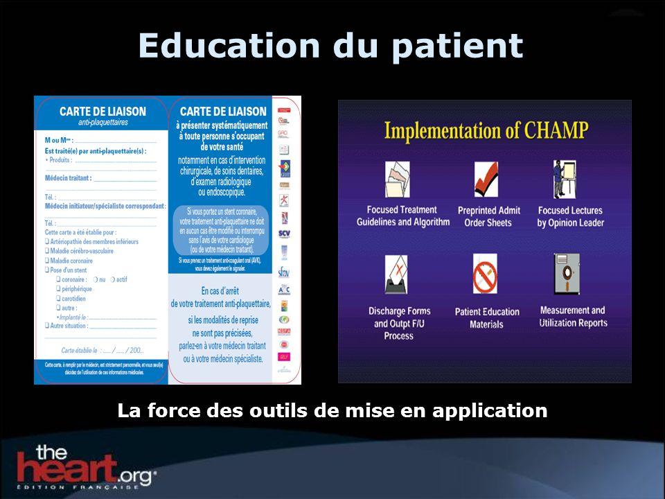 Education du patient La force des outils de mise en application