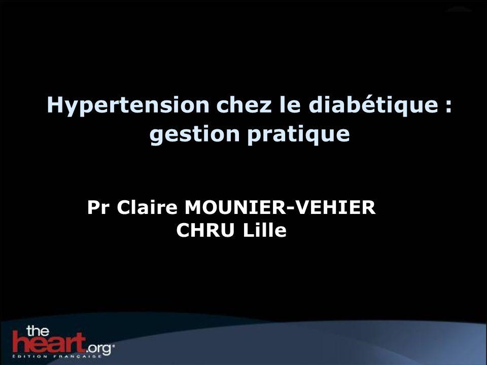 Hypertension chez le diabétique : gestion pratique Pr Claire MOUNIER-VEHIER CHRU Lille