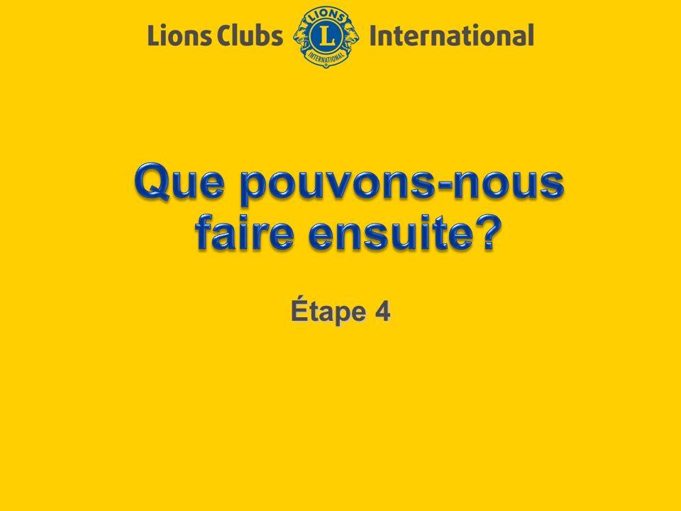 LIONS CLUBS INTERNATIONAL PROCESSUS D EXCELLENCE DE CLUB 2 Objectifs de l étape 4 Fixer des buts Créer des plans daction Revoir le programme