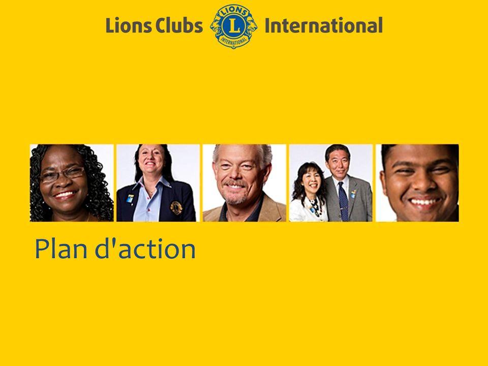 LIONS CLUBS INTERNATIONAL PROCESSUS D EXCELLENCE DE CLUB 9 Plan d action efficace Soyez précis.
