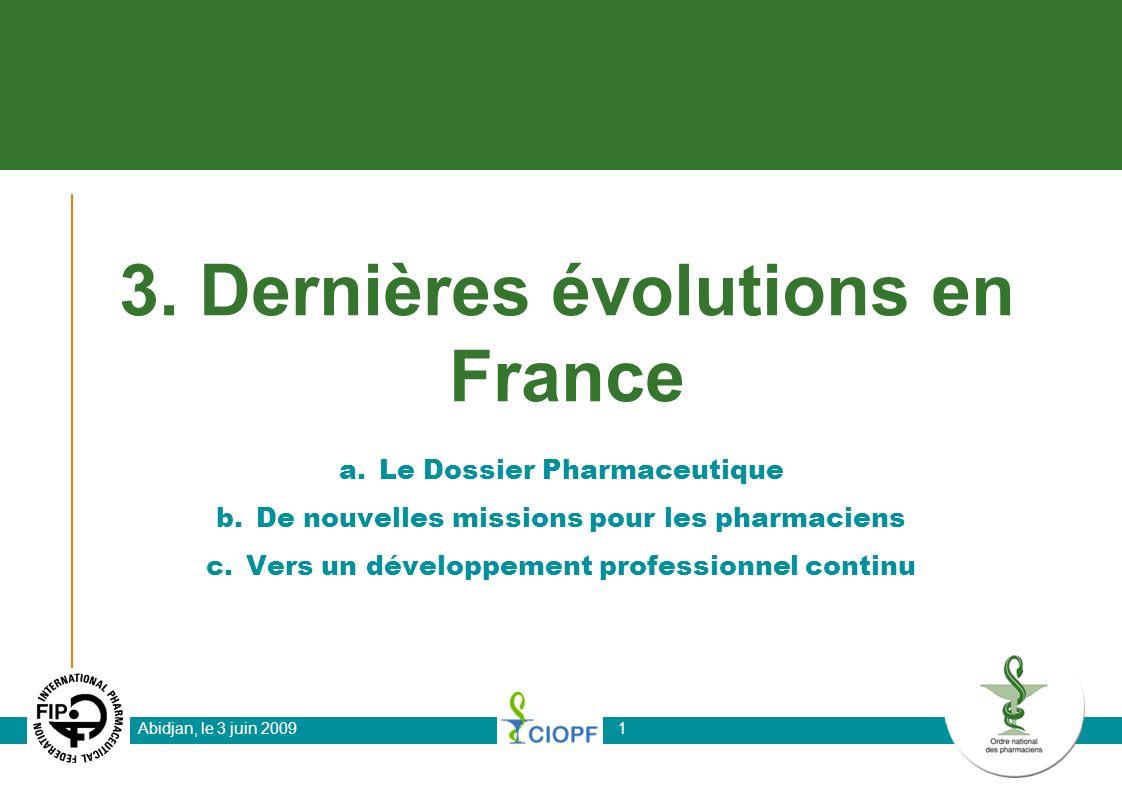 Abidjan, le 3 juin 200912 Ordre national des Pharmaciens 4 avenue Ruysdaël 75008 PARIS FRANCE http://www.ordre.pharmacien.fr Téléphone : +33 1 56 21 34 96 Email : dap@ordre.pharmacien.fr Merci de votre attention