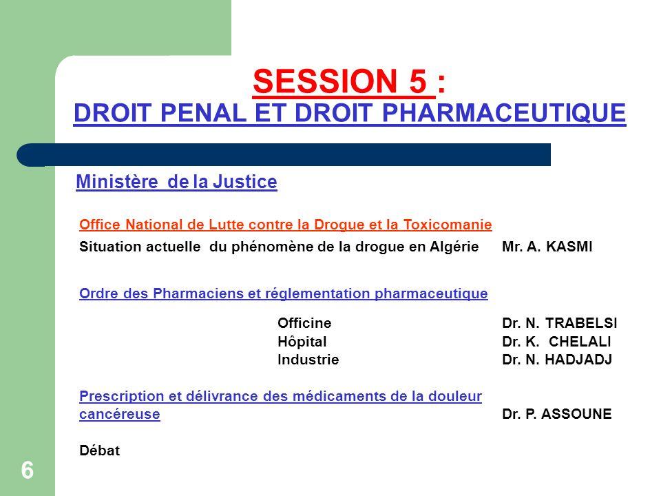 SESSION 6 : EXERCICE DE LA PHARMACIE ET PROTECTION DE L ENVIRONNEMENT Ministère de lAménagement du Territoire,de l Environnement et du Tourisme Ordre des Pharmaciens et environnement Officine Dr.