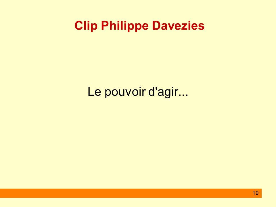 19 Clip Philippe Davezies Le pouvoir d'agir...