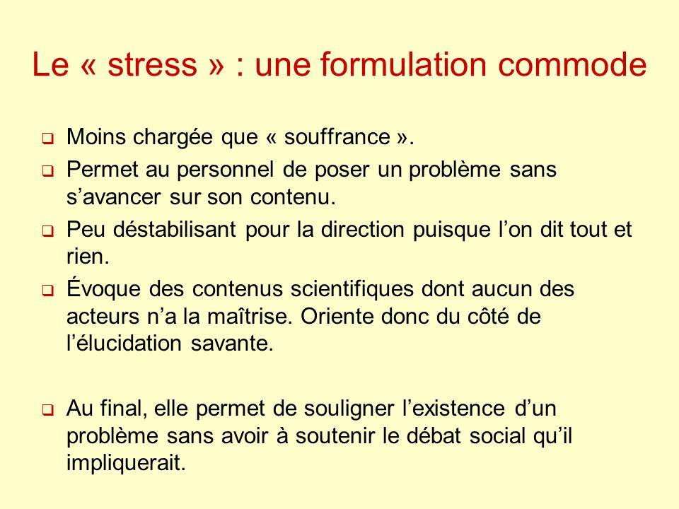 I - Le stress des biologistes : les réactions de lorganisme