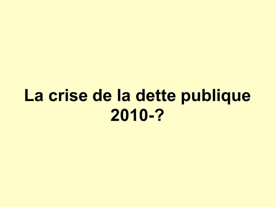 La crise de la dette publique 2010-?