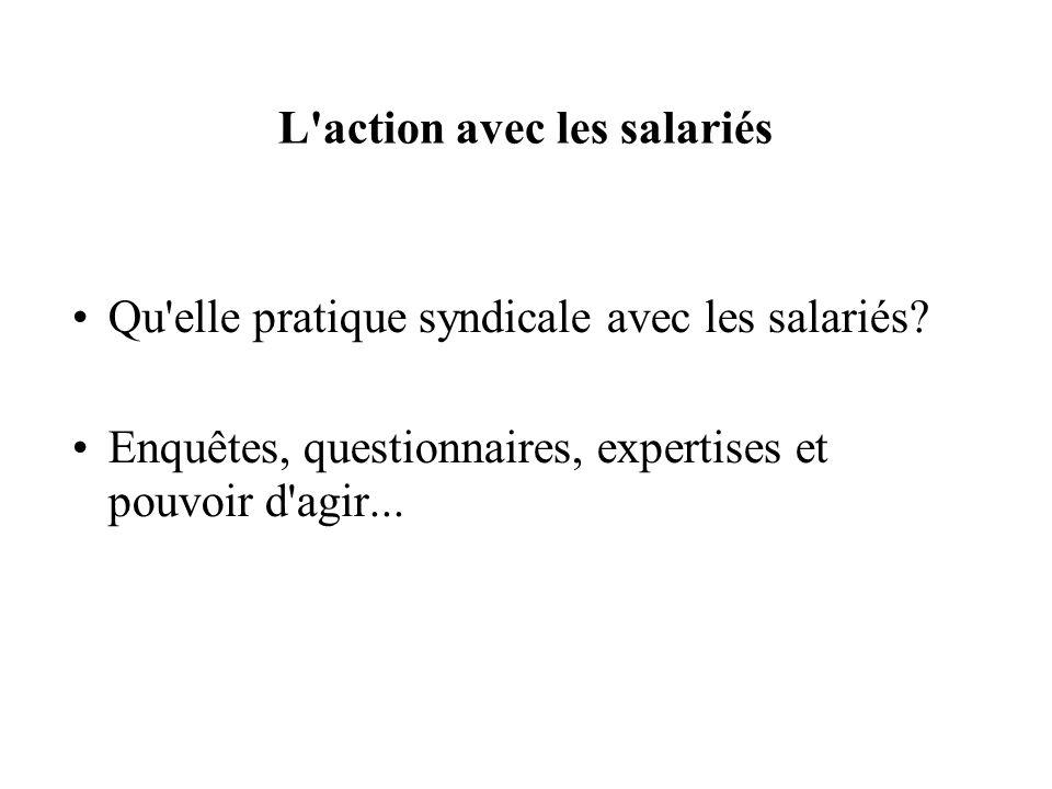 L action avec les salariés Qu elle pratique syndicale avec les salariés.